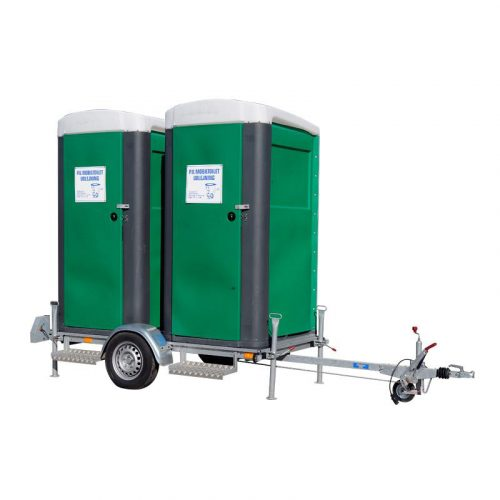 Hent selv trailer m/2 wc